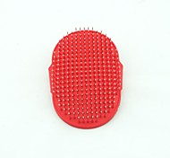 Rubber  Steel Pin Massaging Bathing Brush for Pets