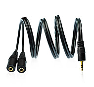 3.5mm macho a 0.984ft cable de audio femenina