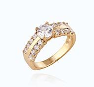 Damenmode einzigartiges Design Gold 18k überzog weißen aaa cz Ringe