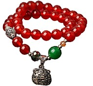 Chinese Wind (Bag)Red Agate Bracelet (Red) (1 PC)