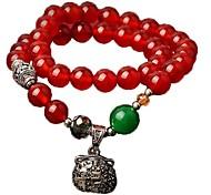 Vento Chinês (Bag) pulseira de ágata vermelha (Red) (1 PC)