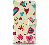 Daisy Flower and Heart Pattern Plastic Hard Case for Motorala Moto G