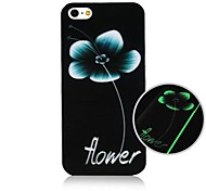 Water Lily Pattern Fluorescence after Sunniness Hard Back Case for iPhone 4/4S