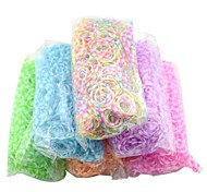 Petal Silicone Bandz Rubber Bands Bracelets with 600pcs Bands and 24 S-clips for DIY Twistz Rainbow Color Loom Style