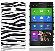 Caso Zebra strisce modello in gomma posteriore dura per Nokia X X +