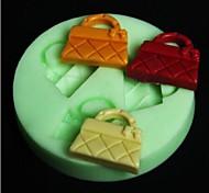 a forma di borsa di stampo cuocere la torta fondente, l6.5cm * w6.5m * h0.8cm