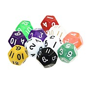 12 Sides 5pcs Funny Humour Gambling Bar Dice Colorful Dice (Random Color)