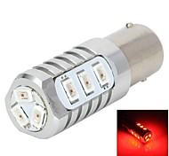 LED YT1311286 1156 5W 12x5730 SMD 635nm 250-350lm Luz roja para la dirección del coche / luz de freno 12-24V