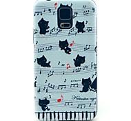 Musik Katzen-Muster harte Fallabdeckung für Samsung Galaxy i9600 s5