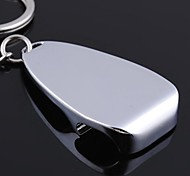 A Bottle Opener Shape Metal Silver Keychain Toys