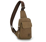 Outdoors Man's Fashional Brown Canvas Shoulder Bag