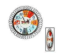 Digital Restoring Ancient Ways, Wrought Iron Decorative 13.2 Inch Wall Clock