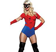 Populaire Spider Girl Red & Blue Terylene Vrouwen Halloween Costume