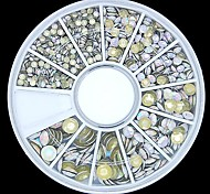 800PCS Mixed Size 3D Rock Round Metal Studs Wheel Nail Art Decoration