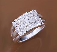 Ring Fashion Wedding / Party Jewelry Brass / Cubic Zirconia Women Statement Rings 1pc,One Size Gold