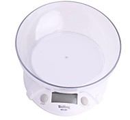 "WH-B09 1.8 ""LCD Digital Kitchen Scale - Blanco (7kg/1g)"
