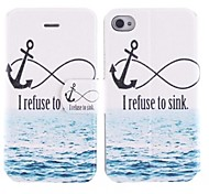 I Refuse To Sink PU Full Body Case with Card Slot for iPhone 4/4S