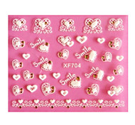 10er Heart-shaped Lace Nail Art Sticker