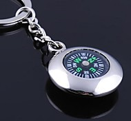 The Compass Shape Metal Silver Keychain Toys
