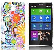 Caso Rainbow e Fiore modello gommata posteriore duro per Nokia X X +