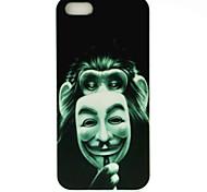 V Mask Orangutan Pattern Hard Case Cover voor iPhone 4/4S