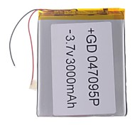 "Universal Replacement 3.7V 3000mAh  Li-polymer Battery for 7~10"" Macbook Samsung Acer Sony Apple Tablet PC (4*70*95)"