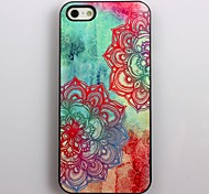 Colorful Beautiful Flower Pattern Aluminum Hard Case for iPhone 4/4S