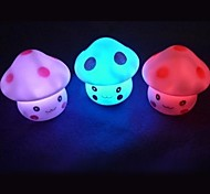 3pcs Lovely Mushroom Style Colorful Light LED Night Lamp