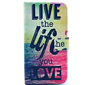 live life Meer Muster PU-Leder Ganzkörper-Fall mit Kartensteckplatz für Samsung Galaxy i9600 s5