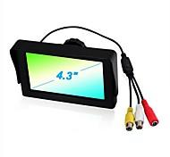 4,3 pulgadas Estacionamiento opinión posterior del coche TFT LCD Monitor de dos vías de entrada del vedio P702