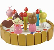 Educational Wooden Three-dimensional Model Cakes of Contruction Blocks