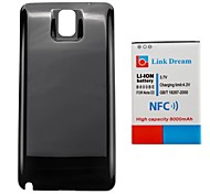 Link Dream 8000mAh  Thickened Cell Phone  Battery with NFC +  Black  Back Cover for Samsung Galaxy Note3/N9000/N9005/N9002/N900/N900A(B800BE)
