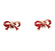 Cute Red Bow Megnetic Earrings(1 Pair)