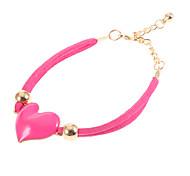 Fashion Multicolor Heart Shape Charm Bracelets(1 Pc)