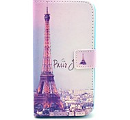 Signature Eiffel Tower Pattern PU Leather Case with Stand and Card Slot for LG G2