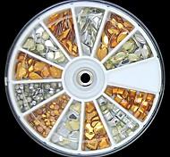 200pcs mix di forma dorata e nastro borchie in lega 3d rviets chiodo ruota decorazione di arte