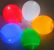 5pcs Pack  LED Balloon Lamp for The Bar Room Decoration or Gift (Random colors)