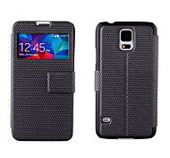 Window view Flip PU Leather Case voor de Samsung Galaxy S5