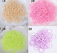 BaoGuang®600pcs Rainbow Color Loom Snow Fashion Loom Rubber Band(1pcs Crochet,24pcs Hook,Assorted Colors)