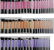 20 Pieces Super macio Dense Make Up Brush Incrível Kit completo para Maquiagem com 3 cores diferentes