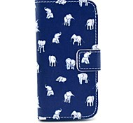 For Samsung Galaxy Case Card Holder / Wallet / with Stand / Flip / Pattern Case Full Body Case Elephant PU Leather Samsung S4 Mini