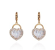 ER0230 New Fashion 18K Gold Plated Jewelry Love Shape Dangle Earrings for Women