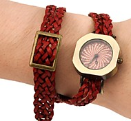 Women's Fashion Style Retro Dial Weave Colorful Leather Band Wrist Watch(Assorted Colors)