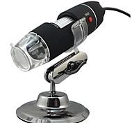 usb microscópio digital - zoom 800x, resolução de 640x480, 8 leds