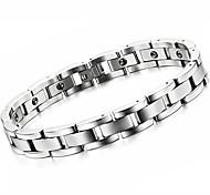 Black Gallstone Anti-fatigue Exquisite Titanium Steel Man Care Bracelet