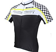 PaladinSport Men's  Biker Apparel Bicycle Jersey Spring and Summer Style 100% Polyester Short Sleeved Cycling Jersey