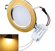 Zhishunjia Luminária de Painel Decorativa 12 W 900 lm LM 3000K K Branco Quente 24 SMD 5630 AC 85-265 V