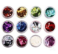 12-color Glitter Rhombus Sequins Nail Art Decorations(Random Color)