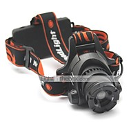 LT-HD001 Zoom 2 Modes 1xCree XML T6 Led Headlight(1200LM.2x18650.Black)