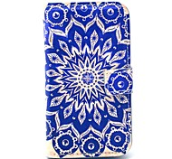 Retro Sunflower Pattern PU Leather Case with Card Holder for Samsung Galaxy Trend Duos S7562